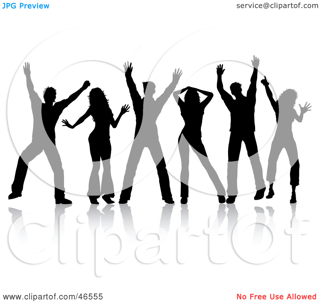 Royalty Free  Rf  Clipart Illustration Of A Group Of Silhouetted