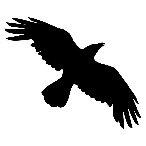Flying Crow Silhouette Clipart - Clipart Suggest