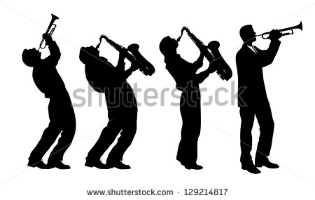 Silhouette Of Jazz Musician Stock Vector Illustration 129214817
