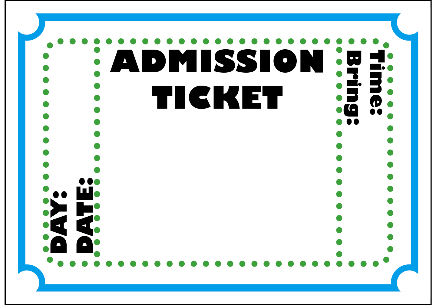 Printable Ticket Clipart Clipart Kid – Printable Tickets Free