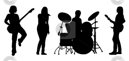 Rock Band Silhouette Clipart - Clipart Kid