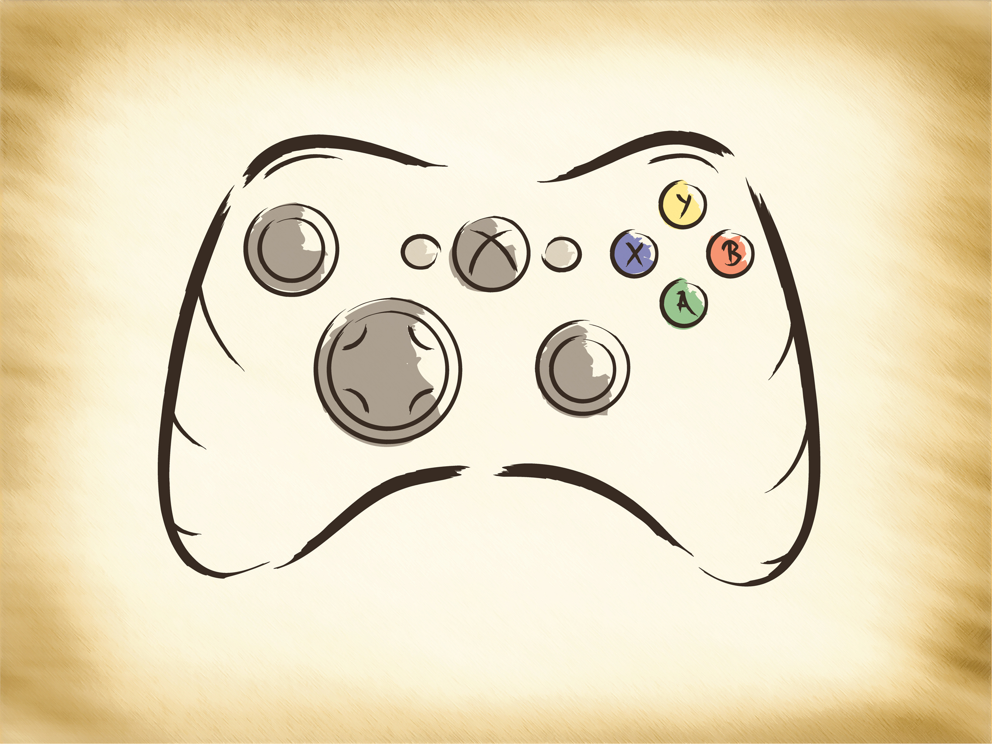 Xbox 360 Controller Drawing X Box 360 Controller C...