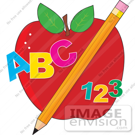Abc 123 Clipart  41150 Clip Art Graphic Of Abc