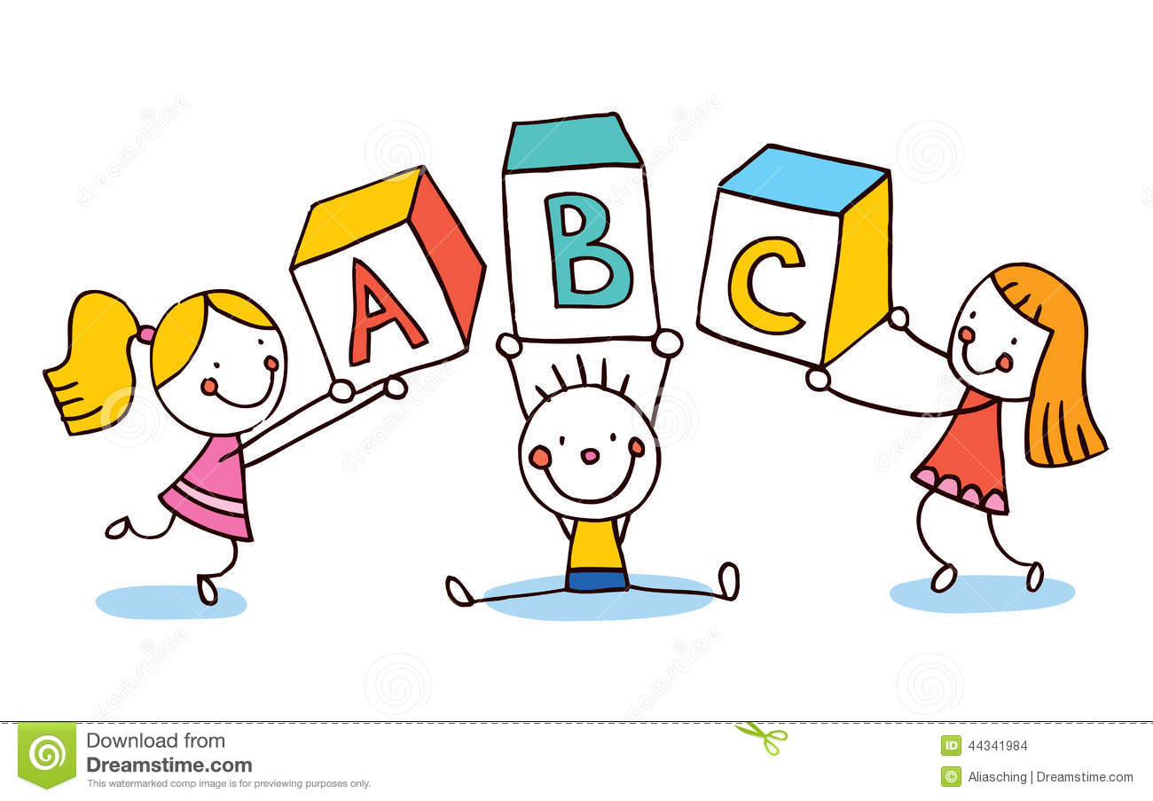Abc Letters Kids Education Stock Vector   Image  44341984