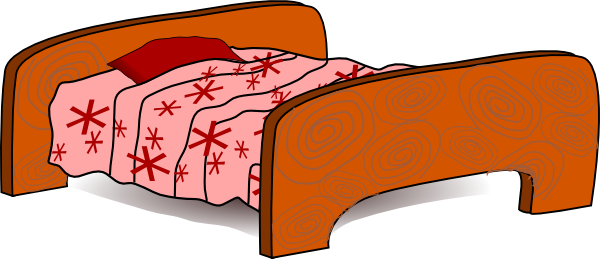 Bed 5 Clip Art At Clker Com   Vector Clip Art Online Royalty Free