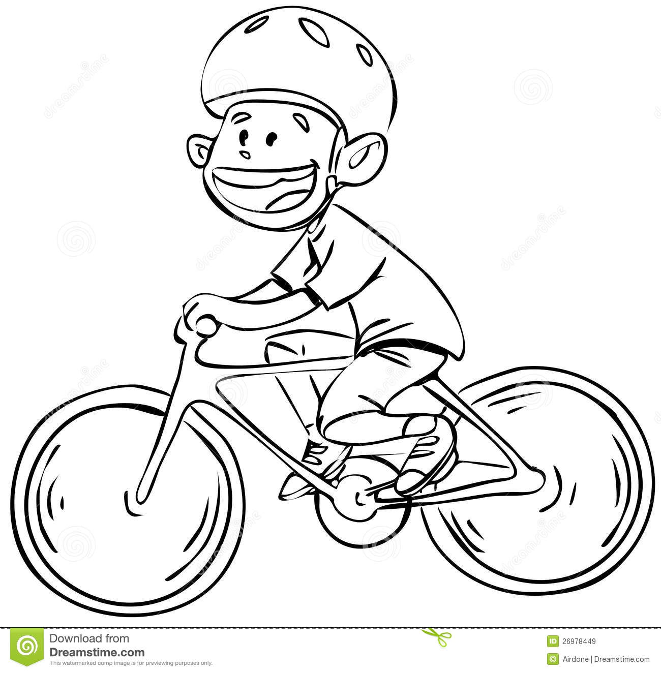 Bicycle Boy In Black And White Royalty Free Stock Images   Image