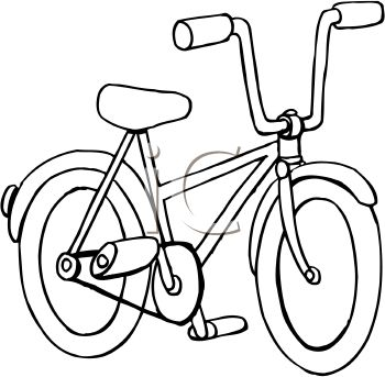 Bicycle Black And White Clipart - Clipart Suggest