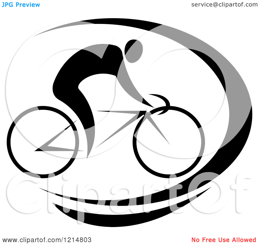 Bike Clipart Black And White Clipart Of A Black And White Cyclist