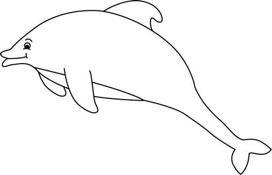 Black And White Dolphin Clip Art   Black And White Dolphin Image