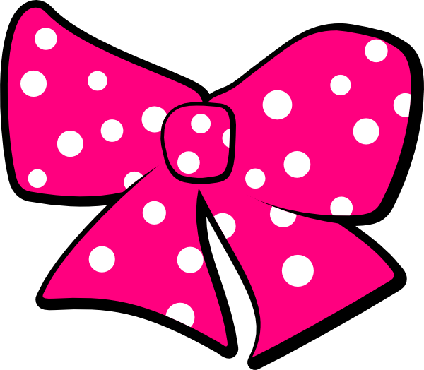Bow With Polka Dots Clip Art At Clker Com   Vector Clip Art Online