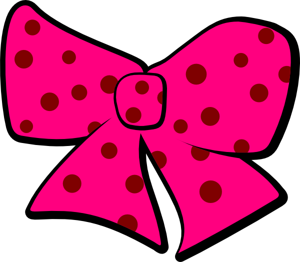 Bow With Polka Dots Clip Art   Brown   Download Vector Clip Art Online