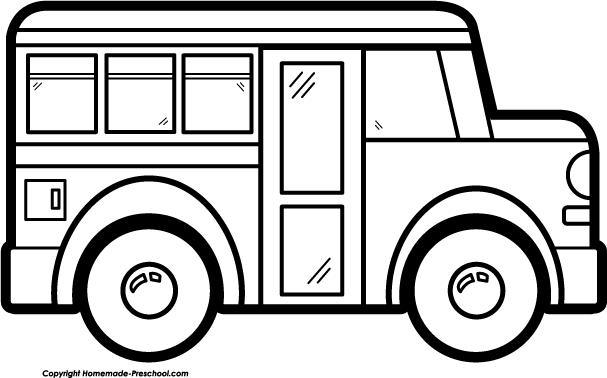 White Bus And Black Clipart - Clipart Kid