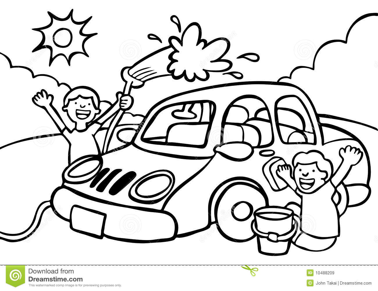 Car Wash Clipart Black And White For Webmasters