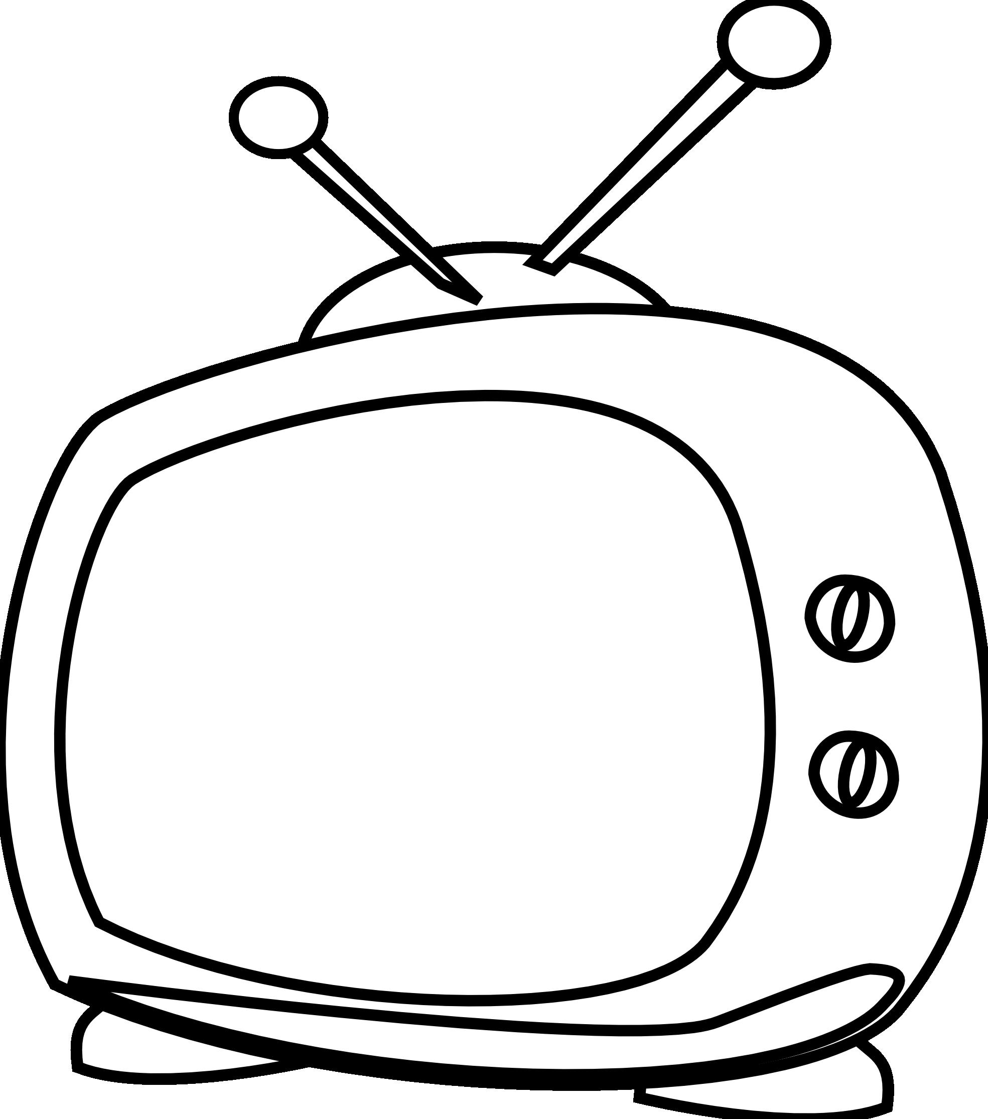 Line Art Inkscape : Tv cartoon clipart suggest