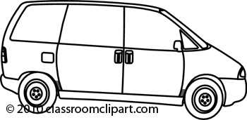 Clip Art Van Clip Art transportation van clipart kid black and white delivery white