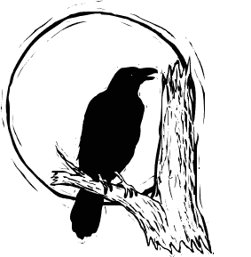 Crow Full Moon Halloween Moon Harvest Moon October Moon Raven