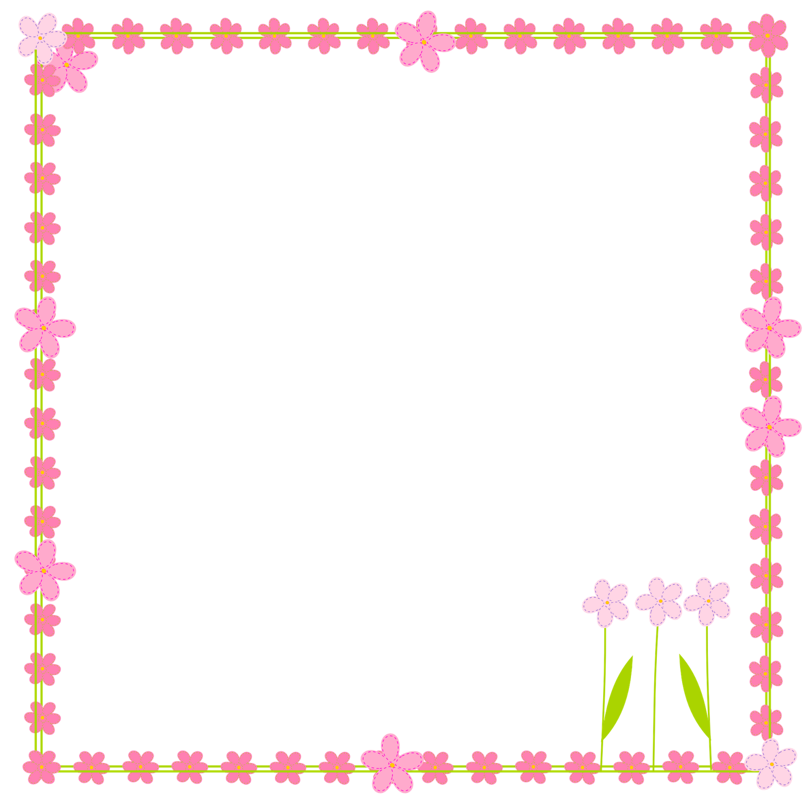 Free Digital Flower Border Scrapbooking Elements   Clipart Rahmen
