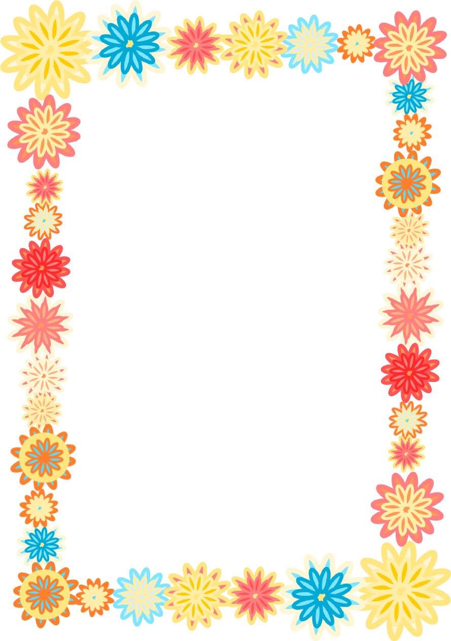 Colorful Flowers Borders Clipart - Clipart Kid
