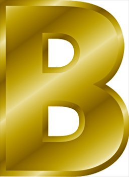 Free Gold Letter B Clipart
