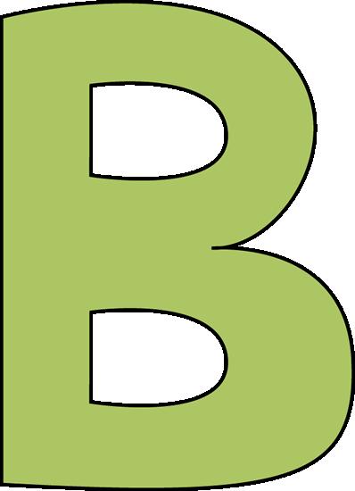 Clip Art Of Green B Clipart - Clipart Kid