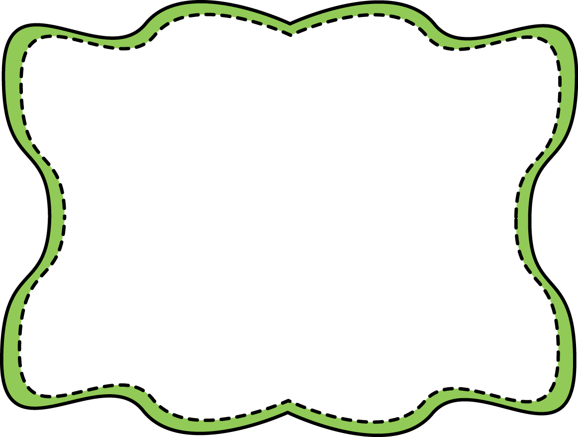 Green Wavy Stitched Frame   Green And Black Wavy Frame With An Inner