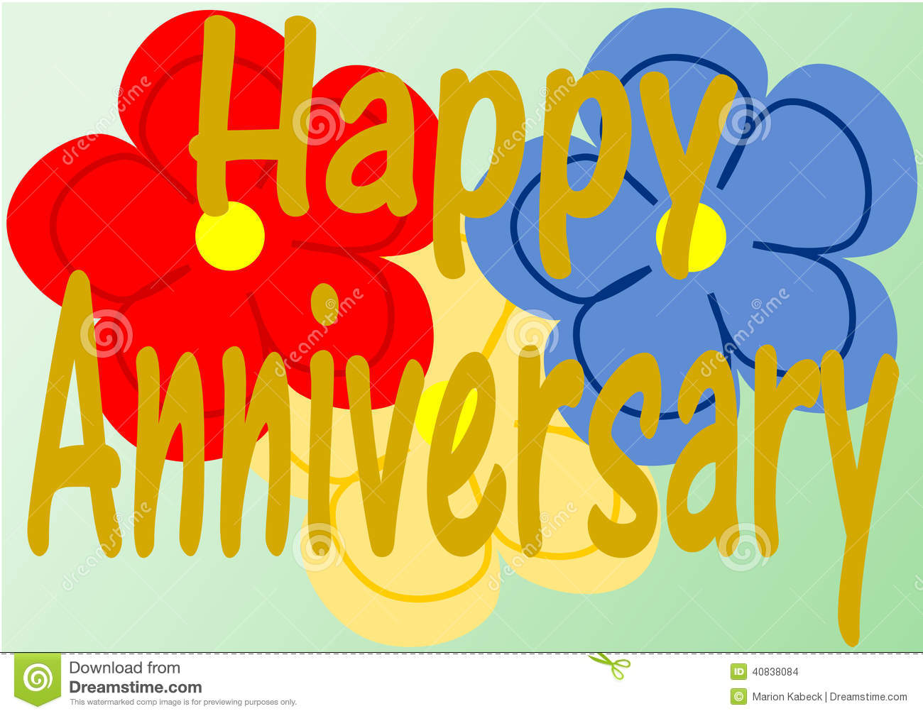 Happy Anniversary With Flowers Clipart Clipart Suggest