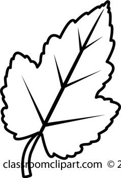 Clip Art Leaves Clipart Black And White black and white leaf clipart kid maple panda free clipart