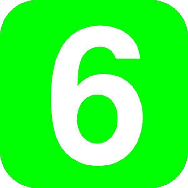 Number 6 Green Clip Art At Clker Com   Vector Clip Art Online Royalty