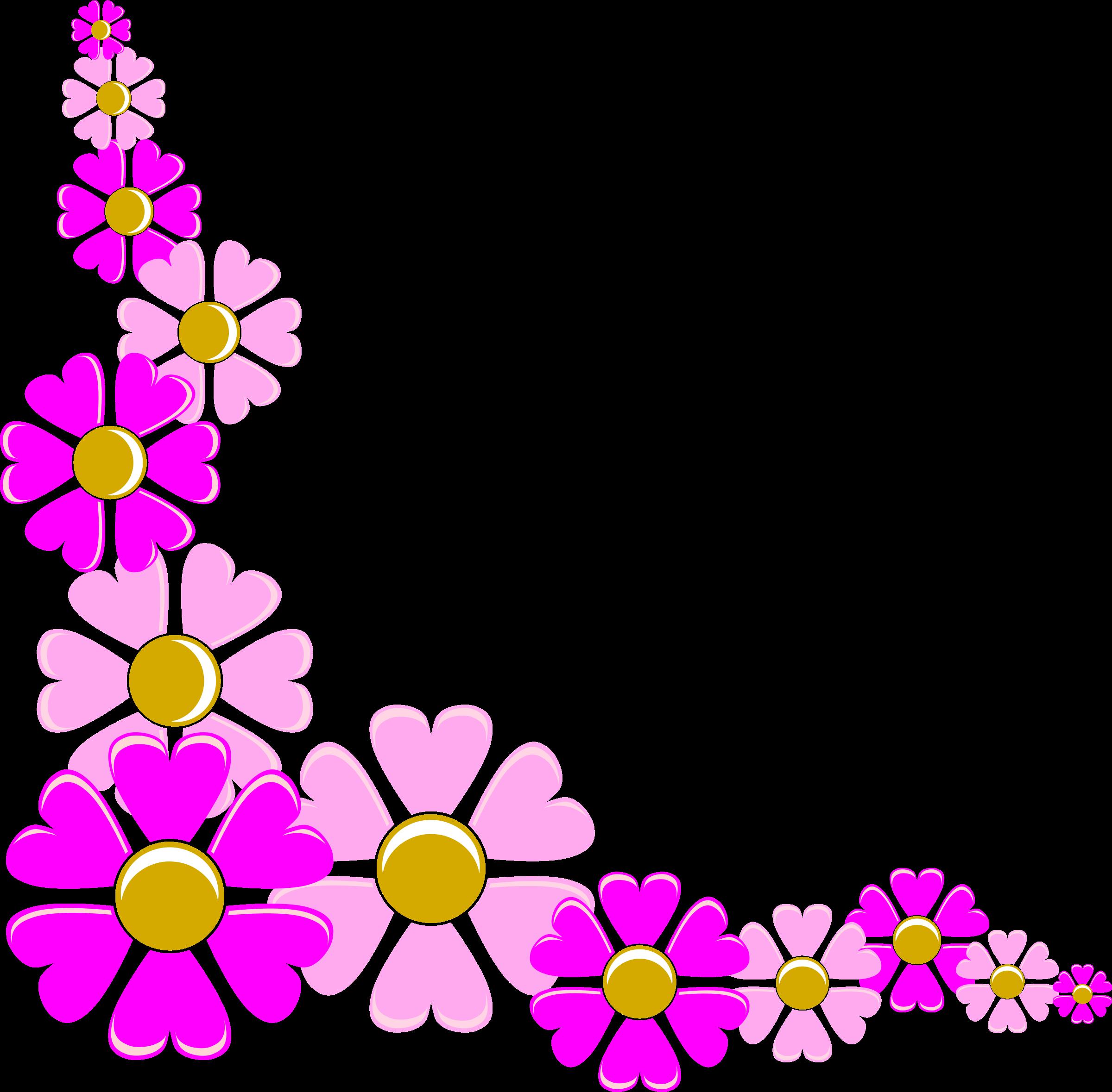 Purple Flower Corner Clipart - Clipart Kid