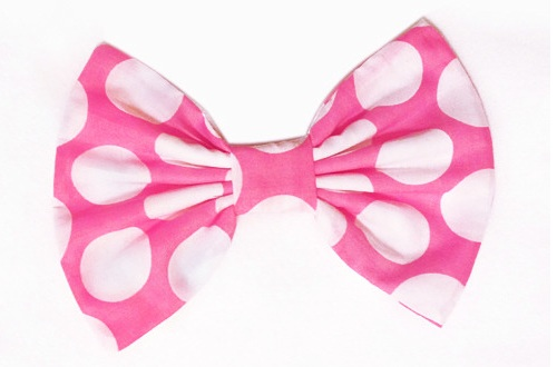 Pink Polka Dot Hair Bow Kawaii Cute Bow Blog Jpg