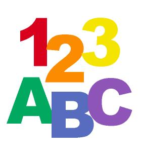 Pix For   Abc 123 Clipart