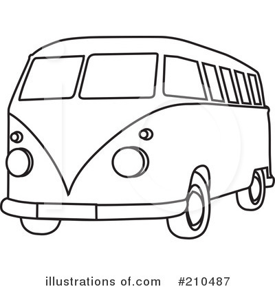 Royalty Free  Rf  Hippie Van Clipart Illustration  210487 By Rosie