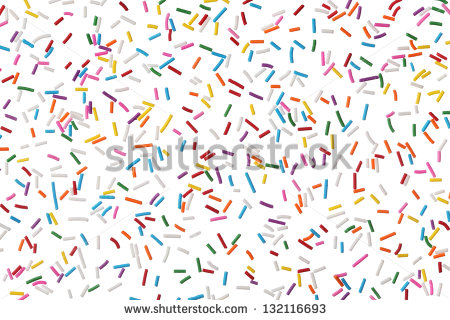 Sprinkles Border Clipart Colorful Candy Sprinkles