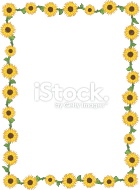 Sunflower Border Design Stock Illustration 9970275 Sunflower Border