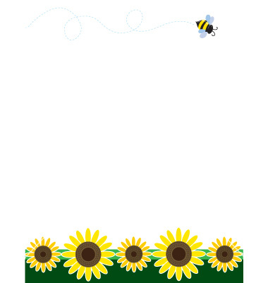 Sunflowers Clipart Border Sunflower Border Vector
