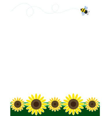 Sunflower Border Clipart - Clipart Suggest