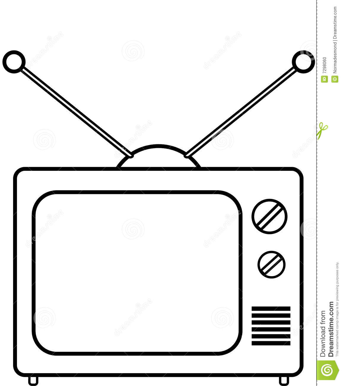 Tv Clipart Colouring Pages 98mcu9 Clipart Kid Television Coloring Page