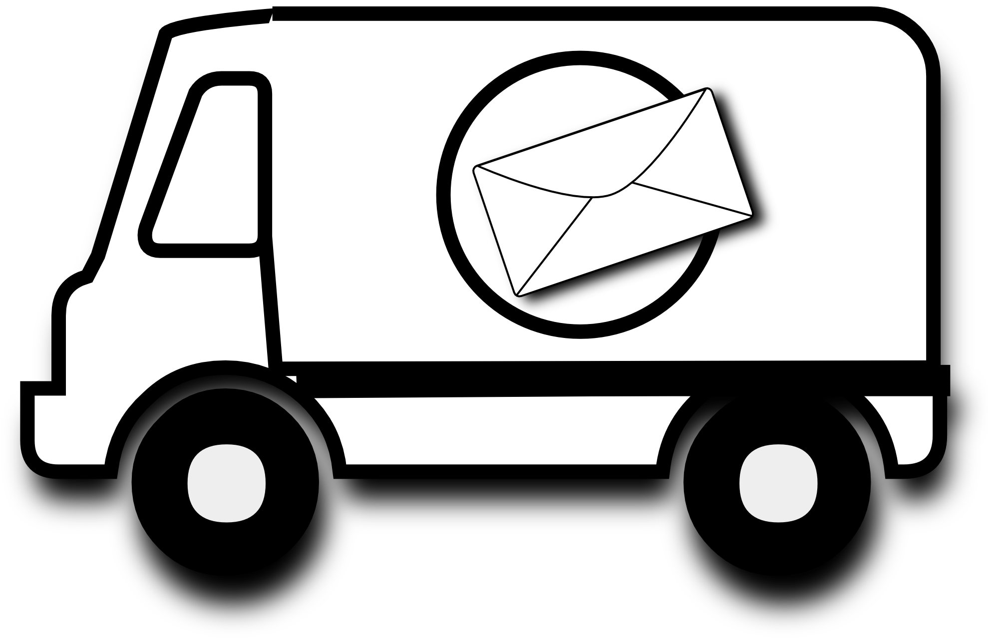 Line Drawing Van : Van black and white clipart suggest