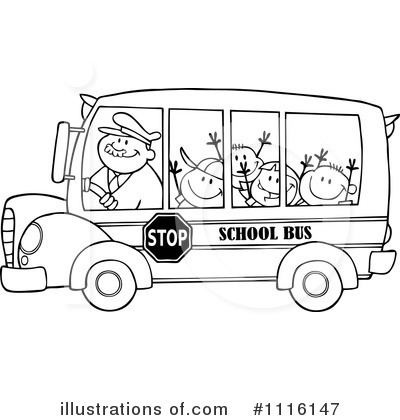 School Bus Black And White Clipart - Clipart Kid