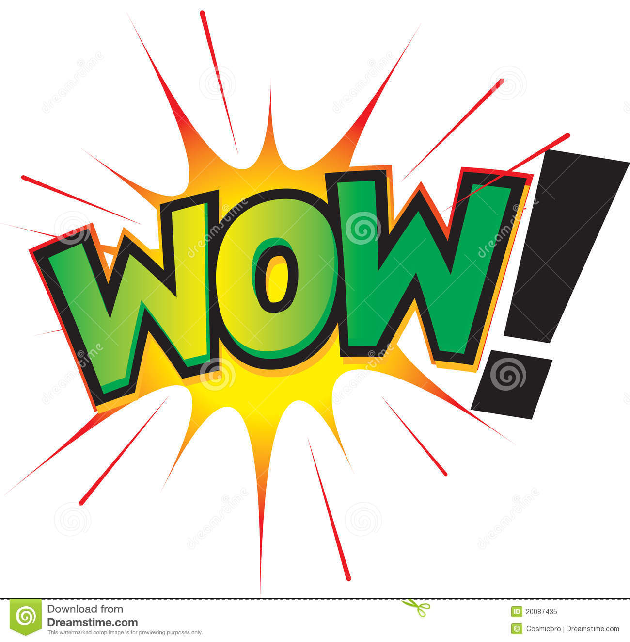 Wow  Fun Graphic Icon Royalty Free Stock Photo   Image  20087435