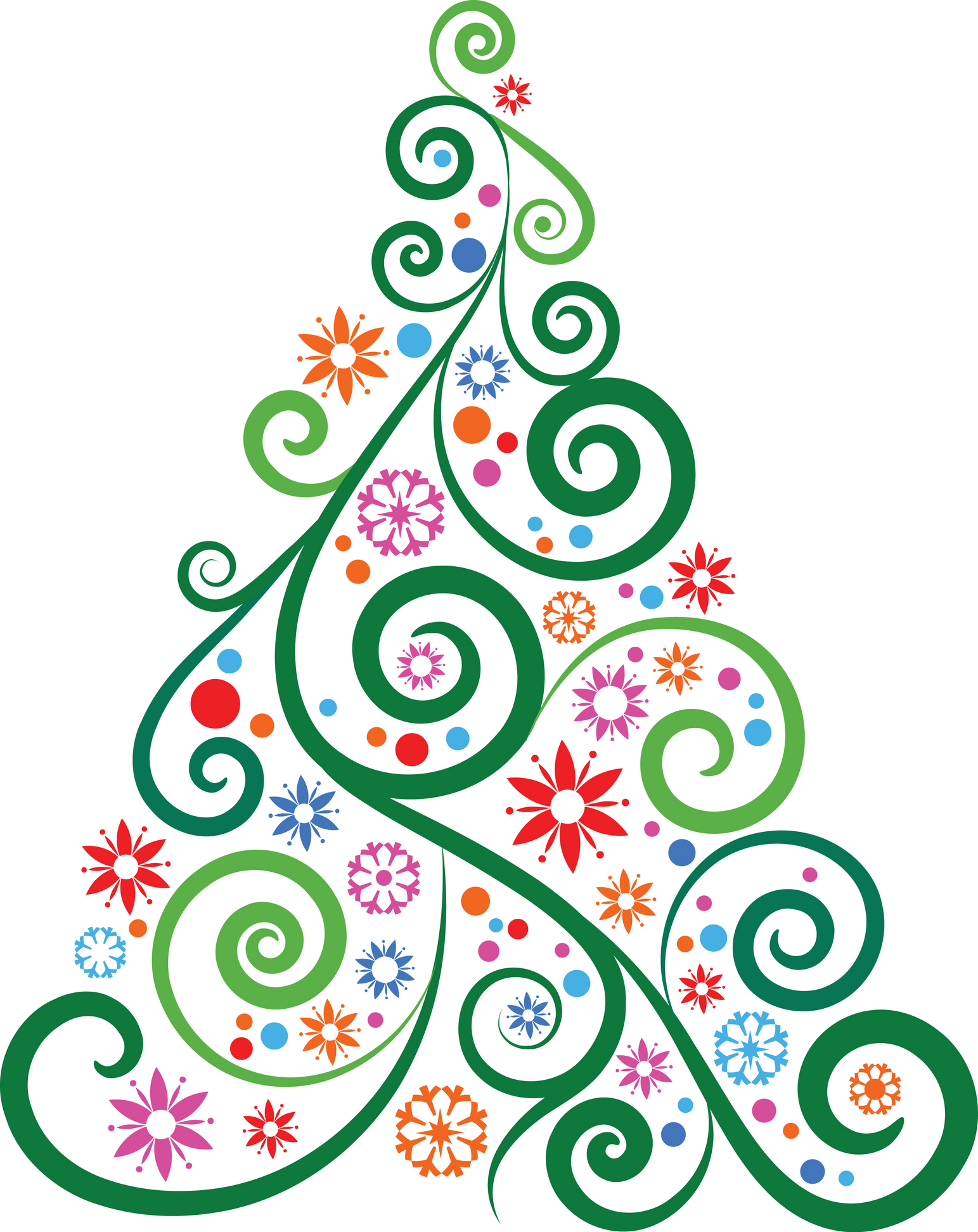 10 Christmas Tree Line Drawing Free Cliparts That You Can Download To
