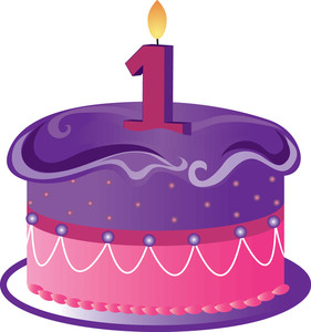 1st Birthday Candle Clip Art First Number C