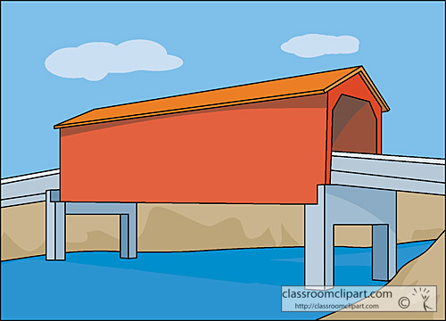 Architecture   Covered Bridge Crca   Classroom Clipart