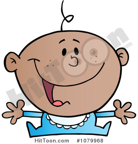 Baby Clipart  1079968  Happy Black Baby Holding His Arms Out By Hit