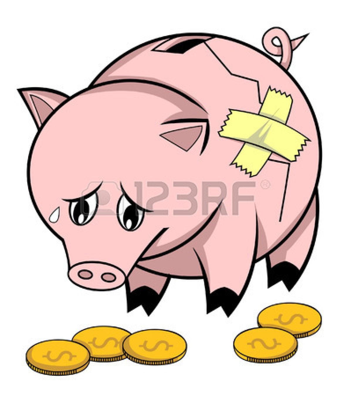 Cartoon Piggy Bank Clip Art