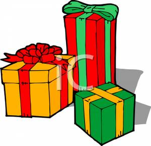 Pretty Christmas Presents Clipart - Clipart Kid
