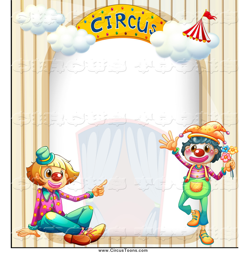 Circus Clipart Of A Clown And Arch Border By Colematt    1079