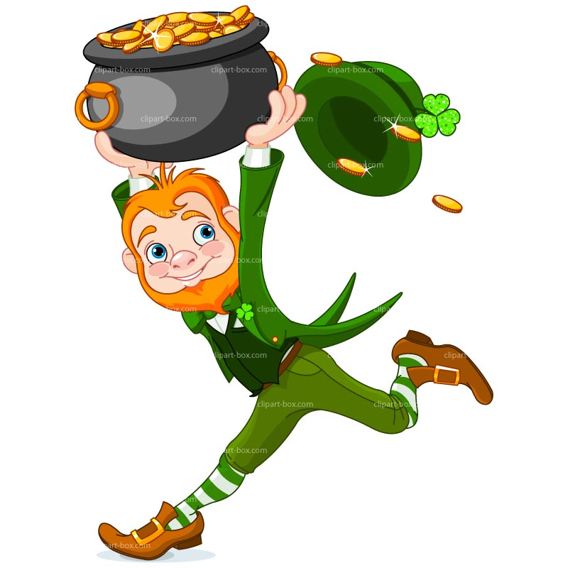 Clipart Leprechaun With Gold   Royalty Free Vector Design