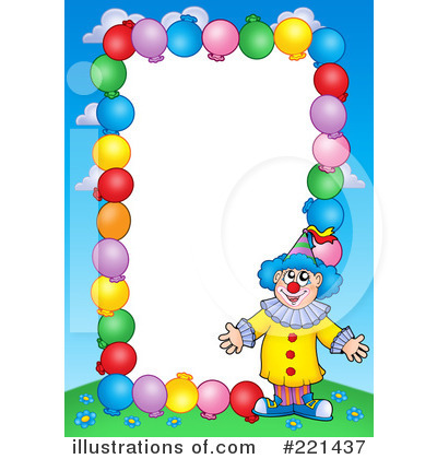 Clown Clipart  221437 By Visekart   Royalty Free  Rf  Stock