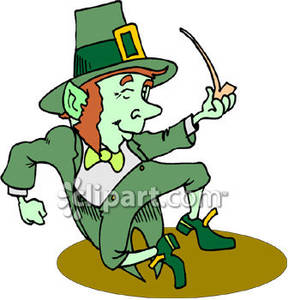 Dancing Leprechaun Clip Art